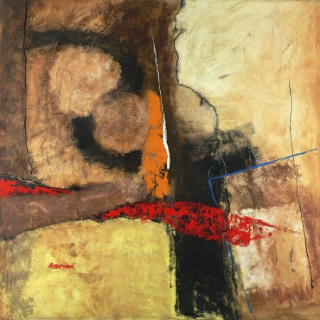 Arte Contemporânea Tela Yokkaichi 70 x 70 cm
