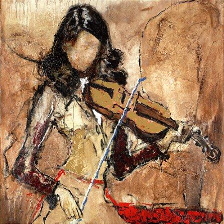 Gravura Coleção Música 30 x 30 cm Mayra