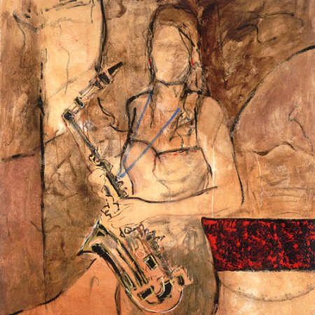 Gravura Coleção Música 30 x 30 cm New Sax