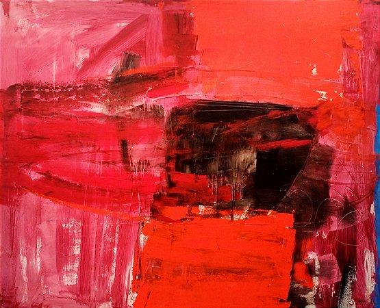 Obra Original Pintura sobre Tela, Rorate Caeli, Acrílica, 128 x 58 cm