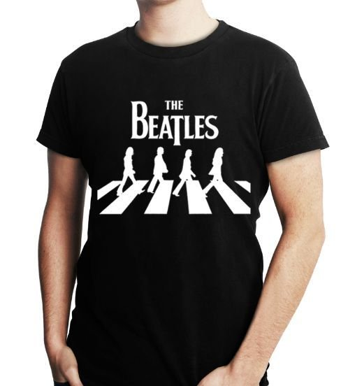 Camiseta The Beatles Masculina Preta