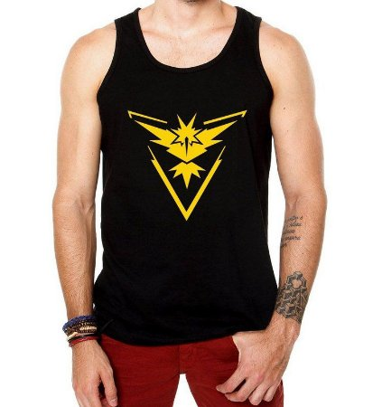 Camiseta Pokemon GoTeam Instinct Regata