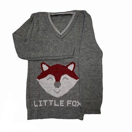 """Suéter Masculino Infantil de Tricot """"Little Fox"""""""