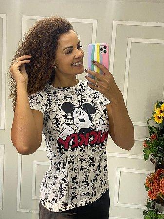 Camiseta Feminina Mickey Sublimada