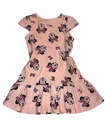 "Vestido Infantil Rosa ""Minnie"""