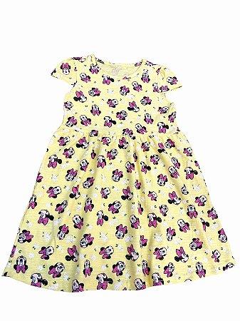 "Vestido Infantil Amarelo ""Minnie"""