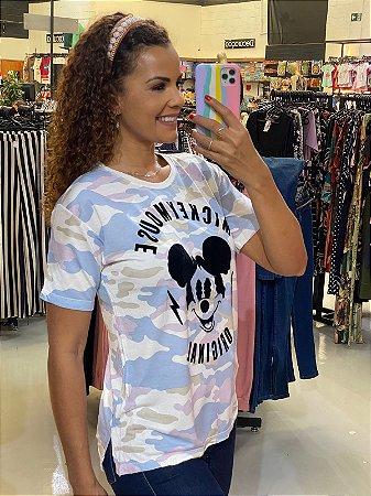 Camiseta Mickey Camuflada