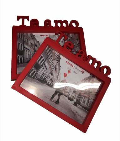 "Porta Retrato Vermelho "" Te Amo """