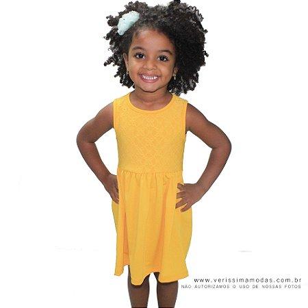 Vestido VIP Infantil Amarelo