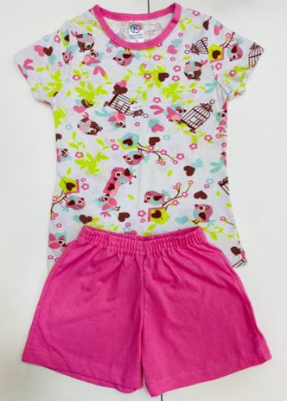 Pijama Estampado com Manga Menina