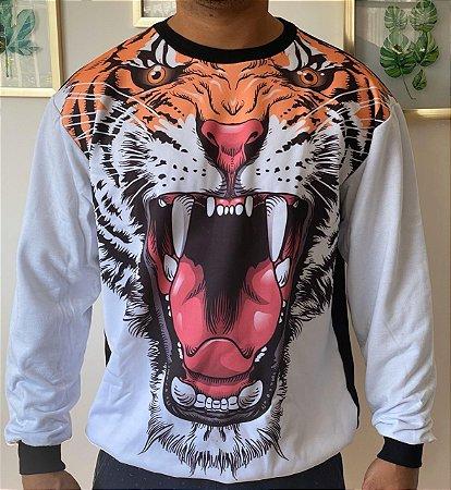 Blusa Moletom Adulto Tigre