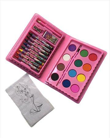 Maleta Estojo Hidrocolor 24 peças- Rosa e Azul