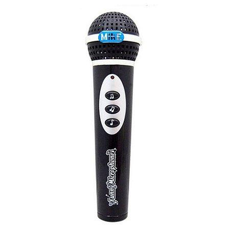 Microfone Infantil Preto 12 Melodias