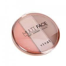 Paleta Multi Face Vivai - Iluminador, Blush, Contorno
