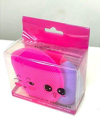 kit Esponja facial (lavar e maquiar)