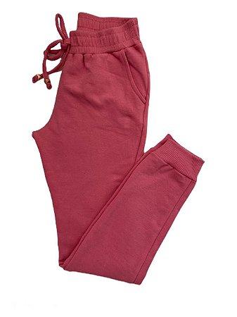 Calça Moletom infantil rosa