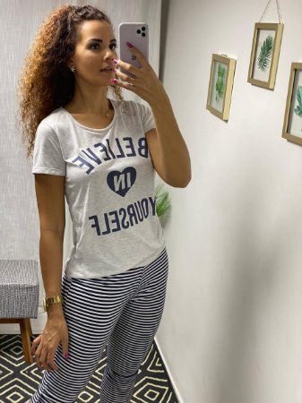 Pijama - Blusa e Calca Pantacourt