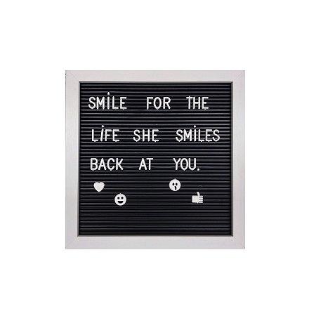 Quadro Letreiro - com 136 Letras, Números e Emojis