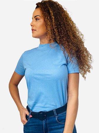 Camiseta feminina adulto gola alta