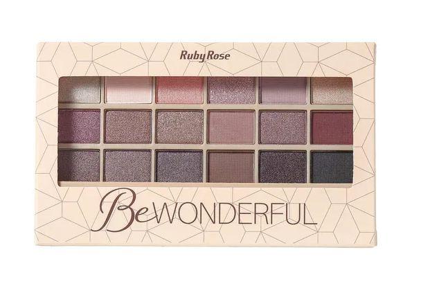 Paleta de sombras 18 cores Ruby Rose - Be Wonderful
