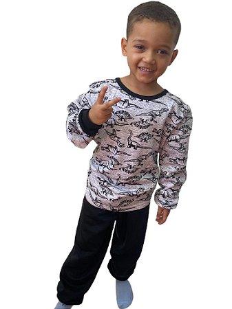 Pijama flanelado Infantil menino - Dinos