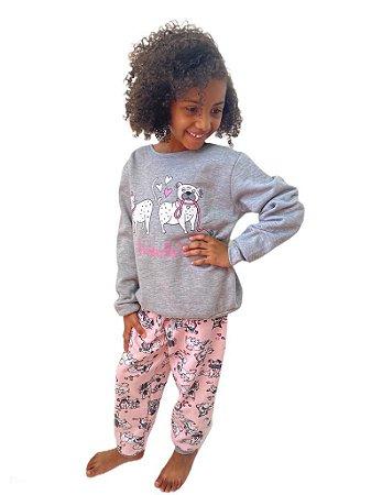 Pijama flanelado infantil menina - Friends (mãe e filha)