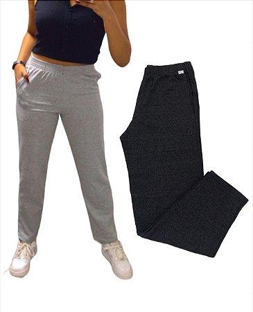 Combo G - 2 calças moletom unissex sem punho