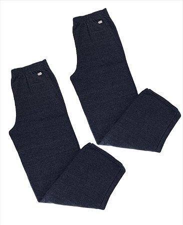 Combo G1 - 2 calças moletom unissex azul sem punho