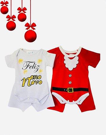 Combo - Bodys Bebê Menino Natal e Ano Novo