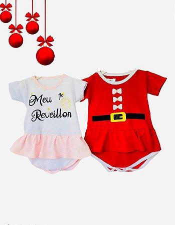 Combo - Bodys Bebê Menina Natal e Ano Novo