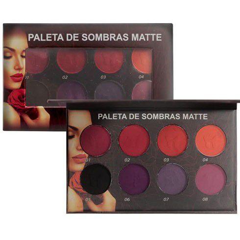 Paleta de Sombras Matte 8 Cores M00045 Ludurana