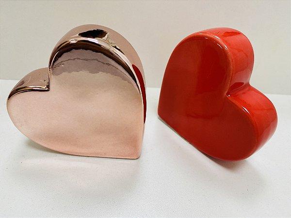 Enfeite Decorativo Porcelana Coração
