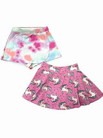 Kit 2 Shorts-Saia Infantil