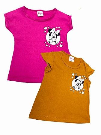 Kit 2 Blusas Minnie Infantil