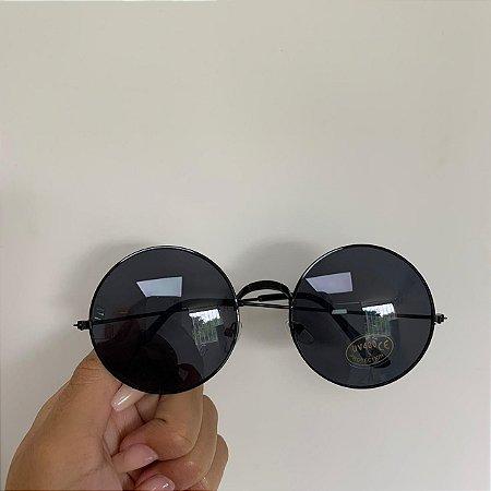 Óculos de Sol Redondo Black