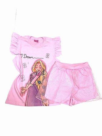 """Pijama Infantil """"Rapunzel"""" Enrolados"""
