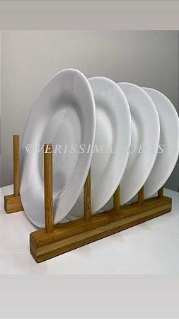 Escorredor de Pratos Bambu