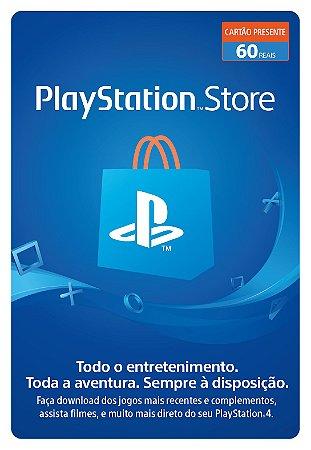 Cartão Playstation Network R$ 60 Reais - Brasil - Código Digital