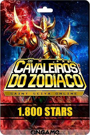 Cartão Cavaleiros do Zodíaco - Saint Seiya 1800 star - Ongame - Código Digital