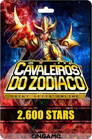 Cartão Cavaleiros do Zodíaco - Saint Seiya 2600 star - Ongame - Código Digital