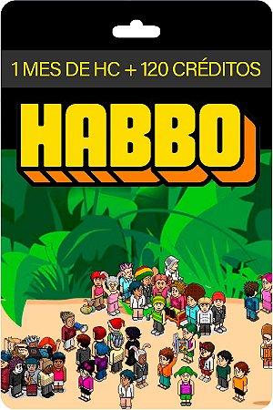 Cartão Habbo R$ 30 Reais 1 Mês Hc Br Brasil + 120 Créditos - Código Digital