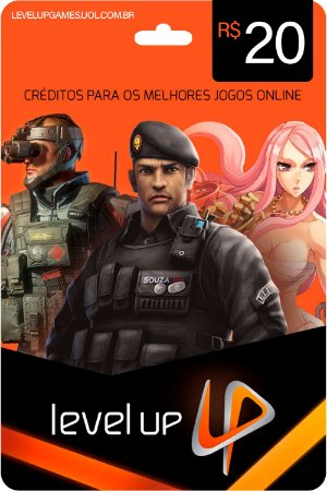 Cartão Levelup R$20 Reais Game Card Cash Level Up - Código Digital