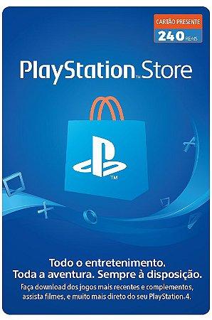 Cartão Playstation Network R$ 240 Reais - Brasil - Código Digital