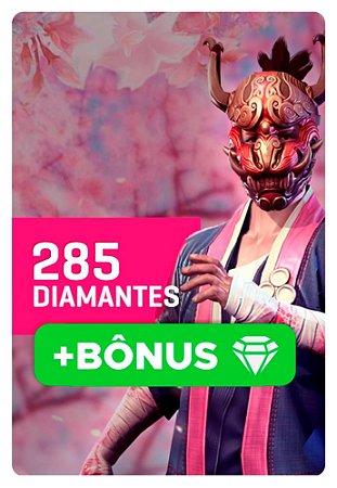 Cartão Garena Free Fire 285 + 10% Bônus Diamantes - Recarga na Conta
