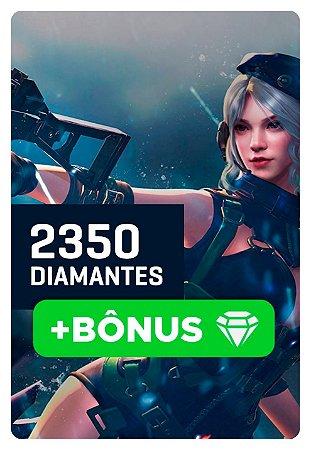 Cartão Garena Free Fire 2350 + 10% Bônus! 2585 Diamantes - Recarga na Conta