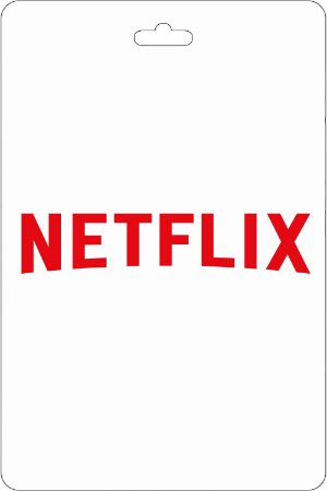 Cartão R$ 300 Reais Pré-pago Netflix - Código Digital
