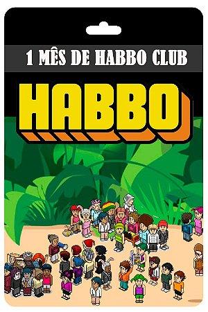Cartão Habbo  1 Mês Habbo Club Br Brasil