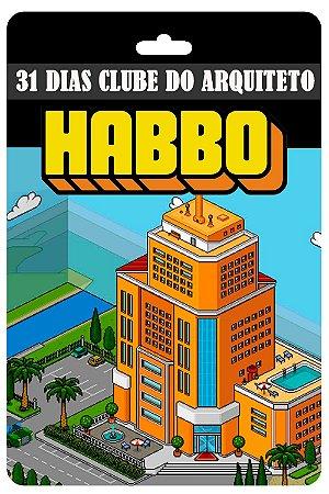 Cartão Habbo  31 Dias Clube do Arquiteto