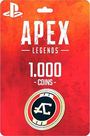 Cartão 1.000 Coins Apex Legends PS4 - Código Digital