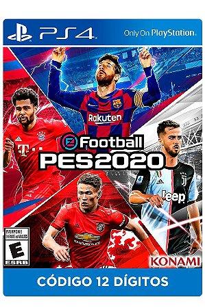 PES 2020 - STANDARD EDITION PS4 - DIGITAL CÓDIGO 12 DÍGITOS BRASILEIRO